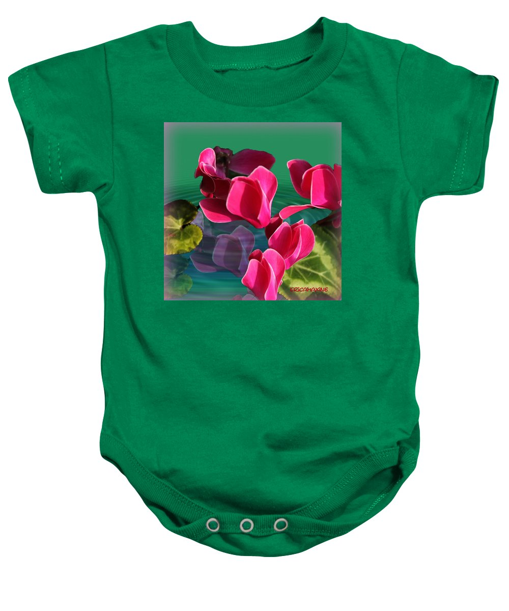 Flower Baby Onesie featuring the photograph Spring Cyclamen by Ericamaxine Price
