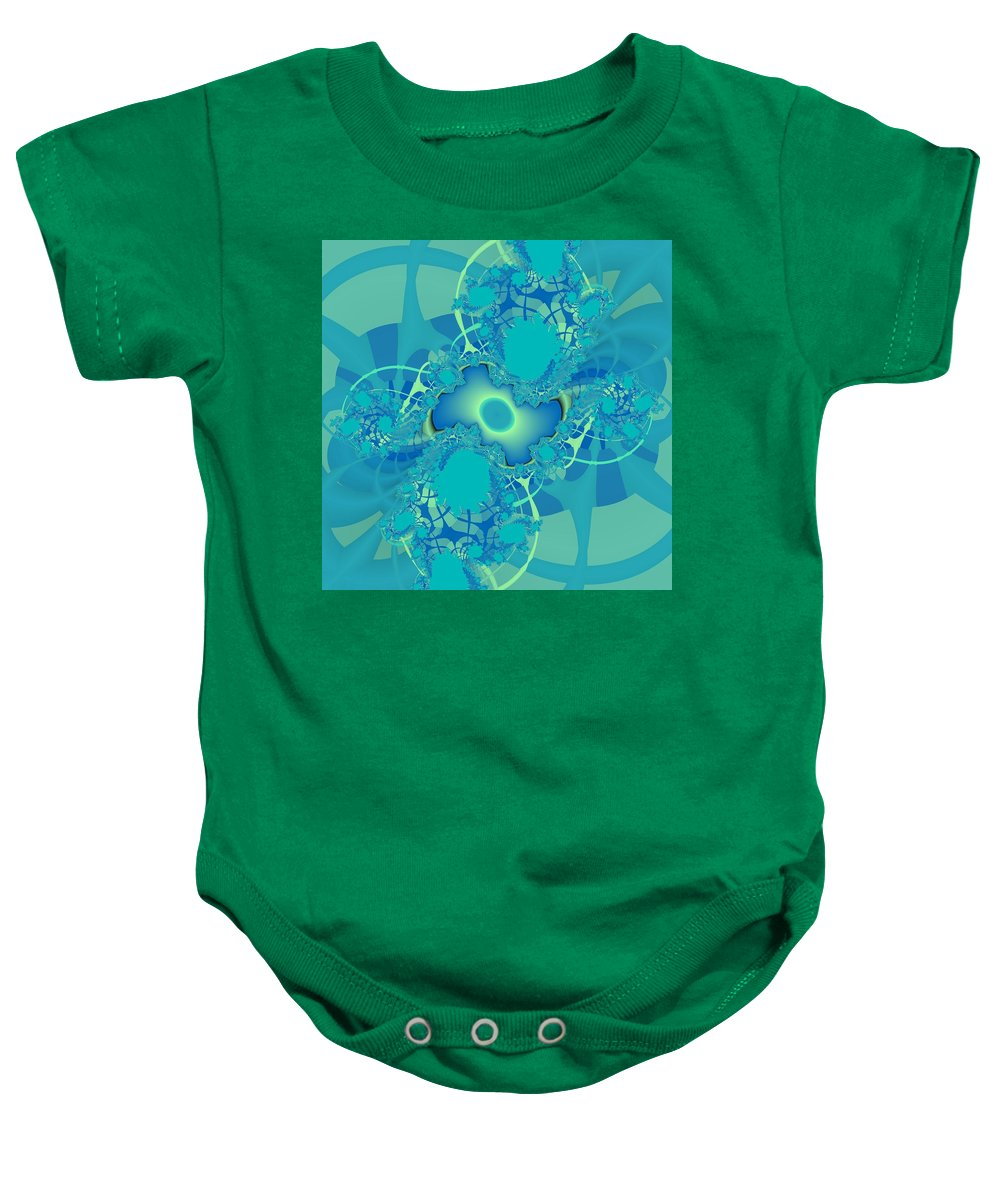 Fractal Baby Onesie featuring the digital art Tranquility by Christy Leigh