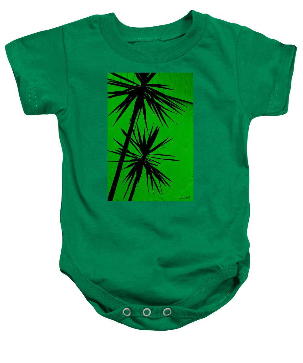 Tropical Splash Baby Onesie featuring the photograph Tropical Splash by Ed Smith