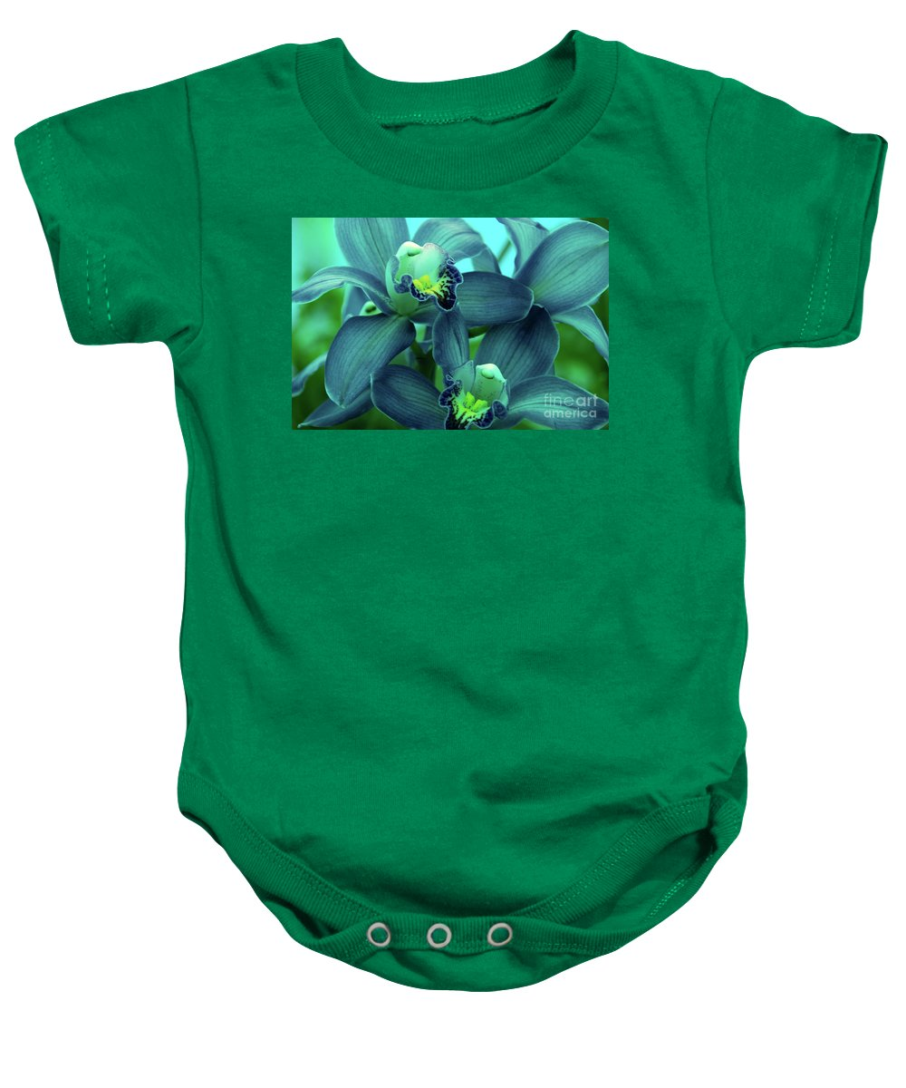 Orchids Baby Onesie featuring the photograph Look At Me by Susanne Van Hulst