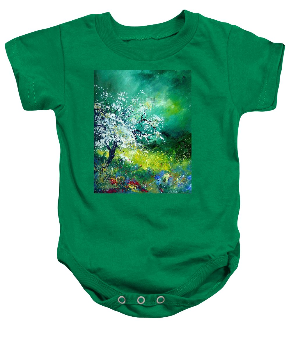 Flowers Baby Onesie featuring the painting Spring by Pol Ledent
