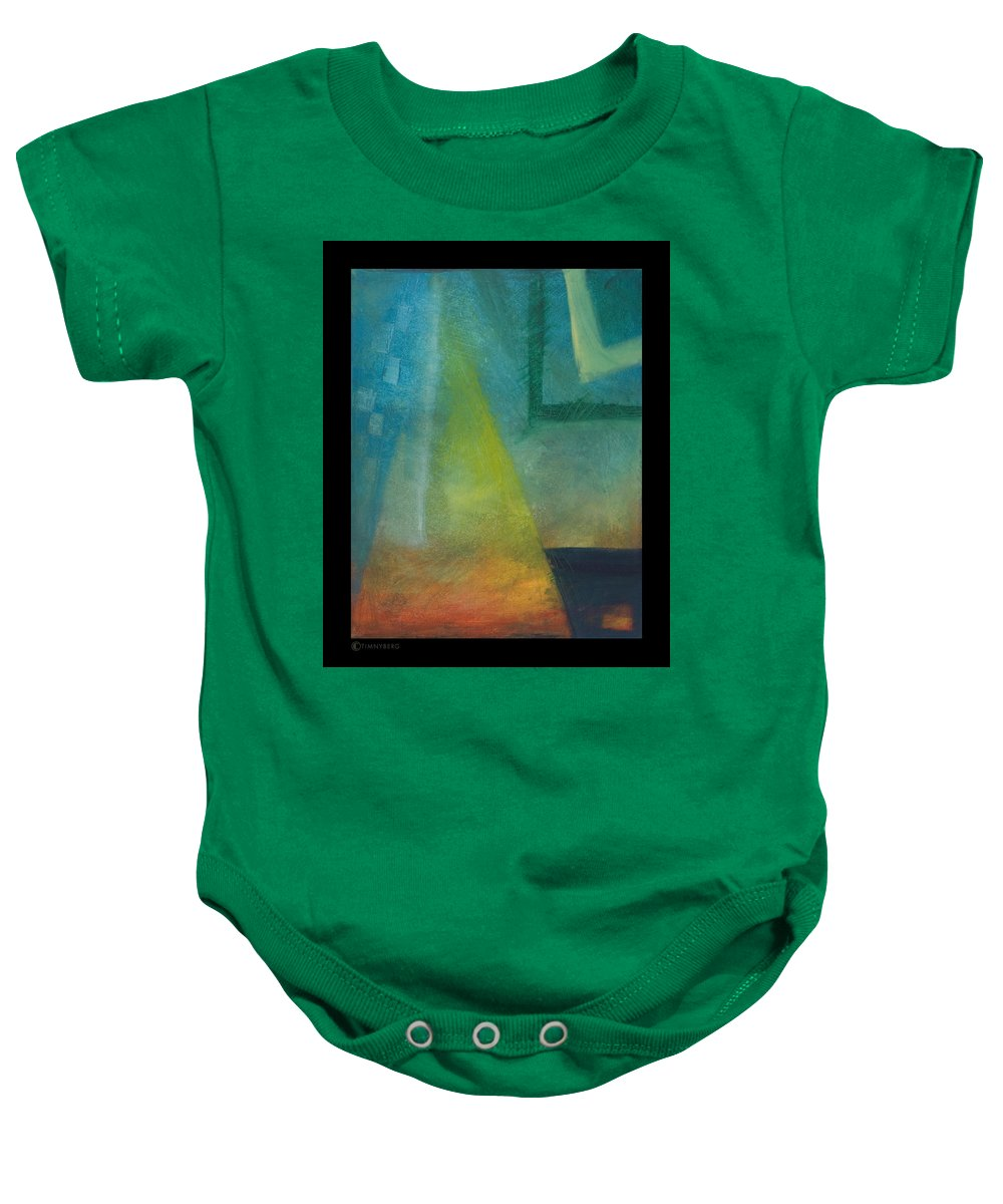 Sunset Baby Onesie featuring the painting Sunset Sail by Tim Nyberg