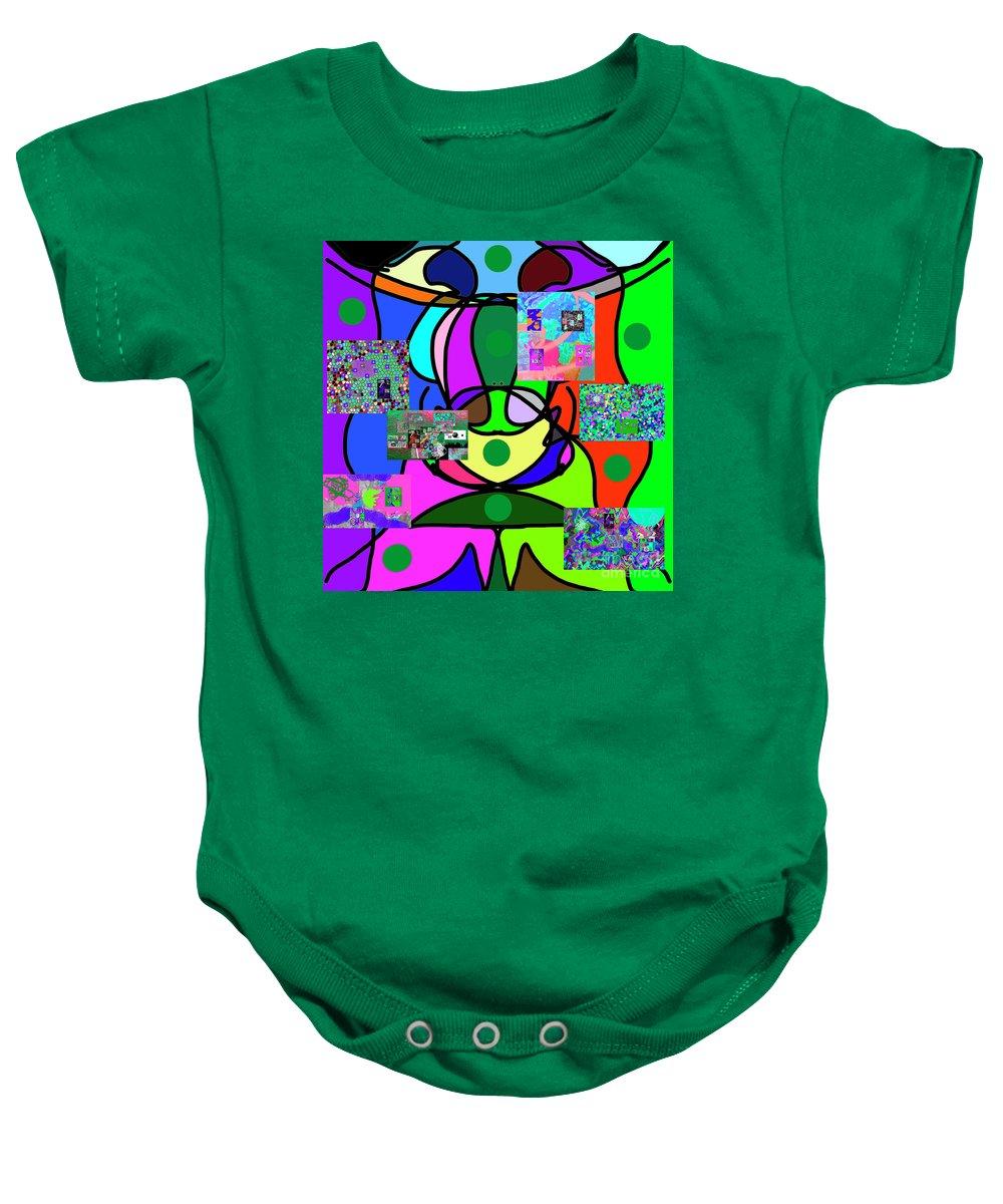 Walter Paul Bebirian Baby Onesie featuring the digital art 11-25-2015eabcdef by Walter Paul Bebirian