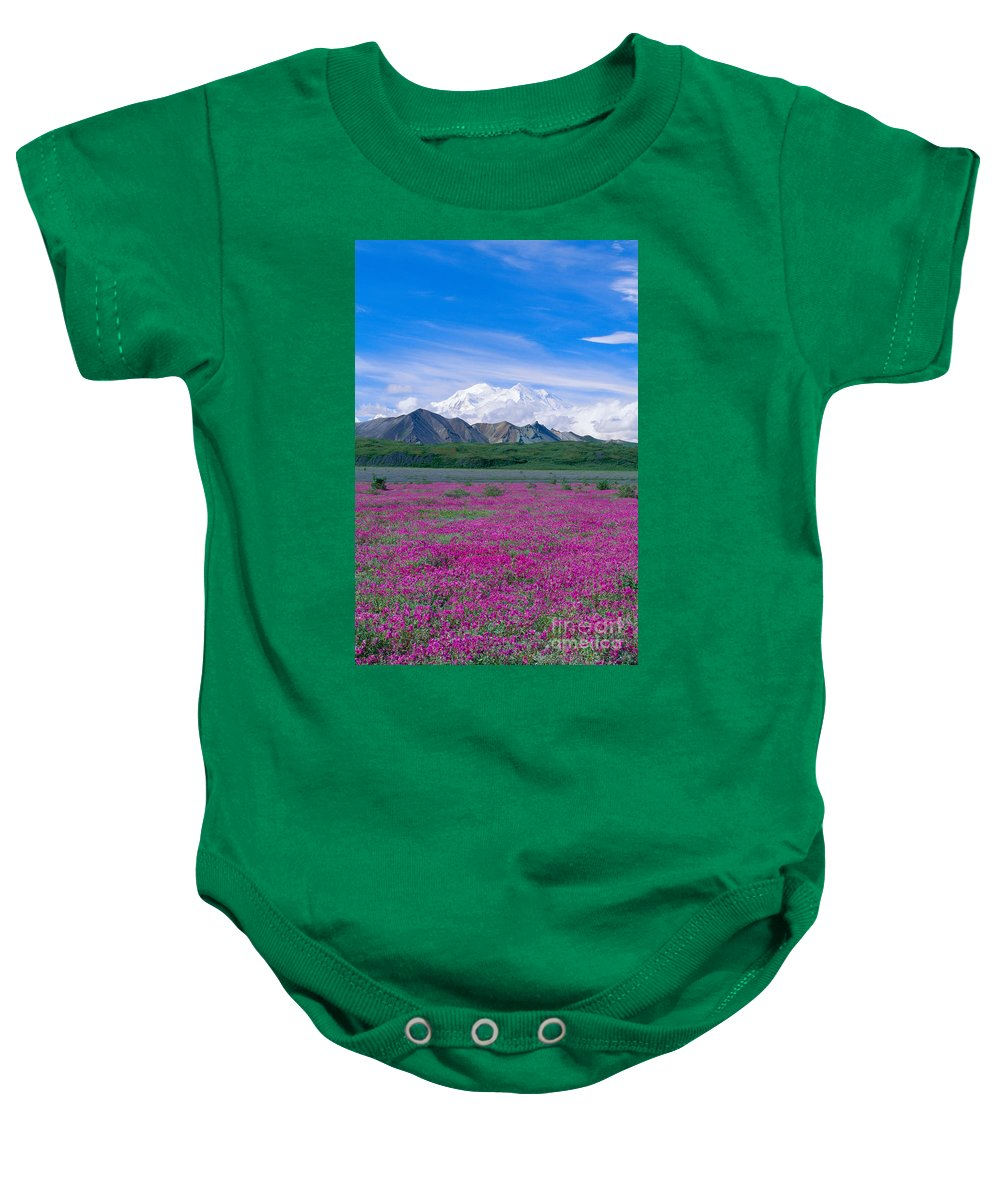 Alaska Baby Onesie featuring the photograph View Of Alaska by John Hyde - Printscapes