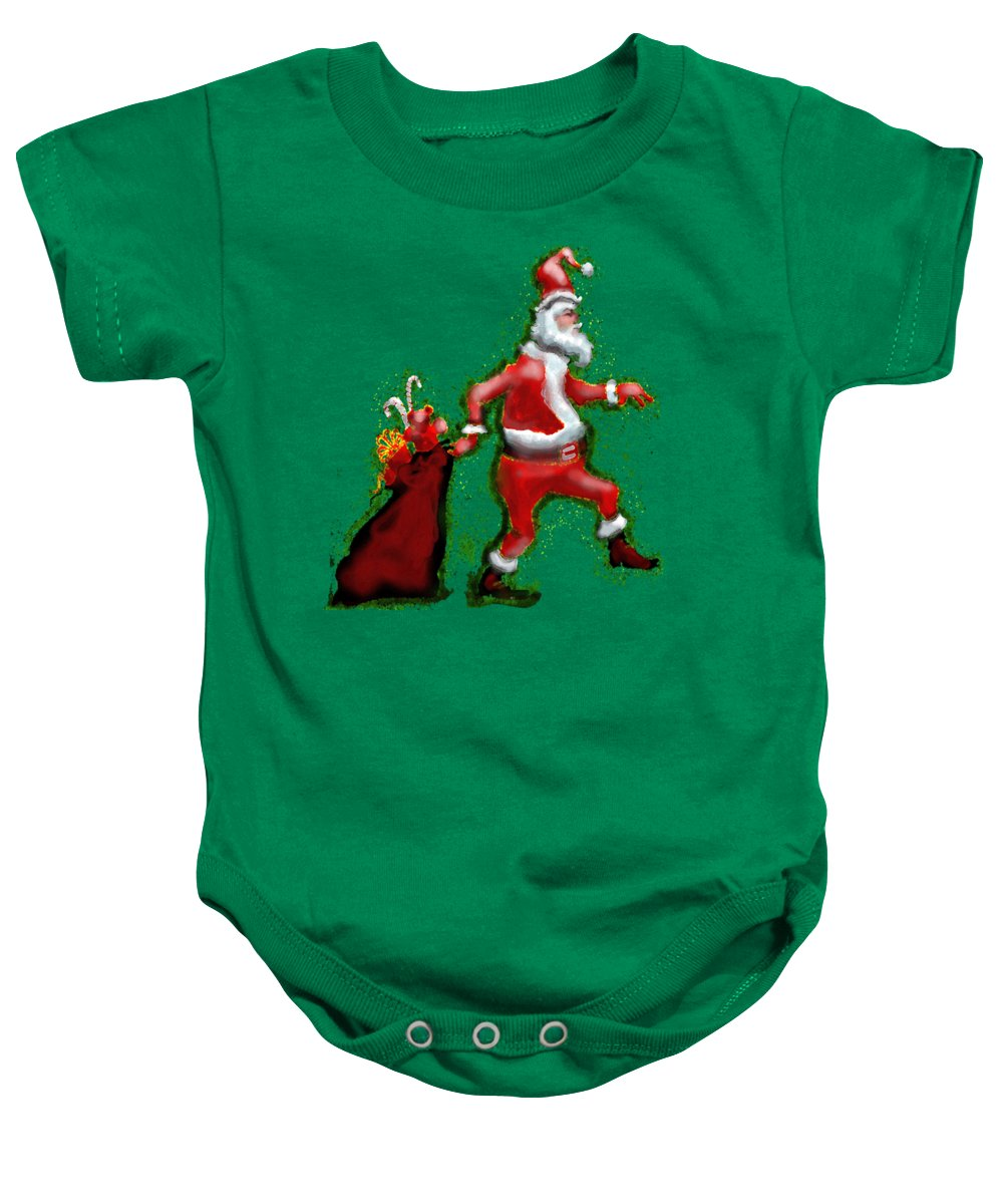 Santa Baby Onesie featuring the painting Santa Claus by Kevin Middleton