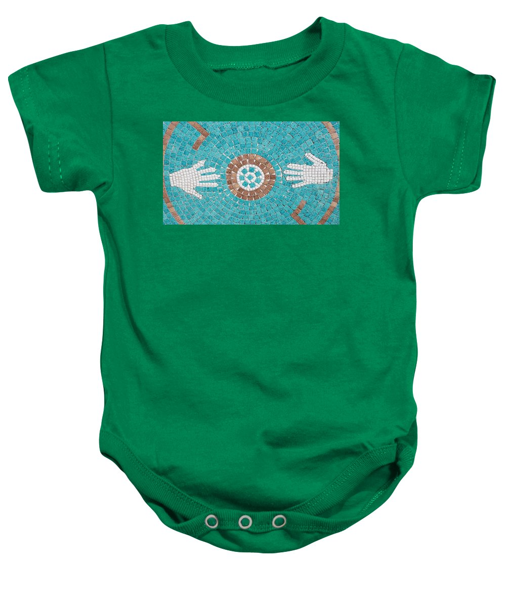 Mosaic Baby Onesie featuring the photograph Hans Mosaic by Rob Hans