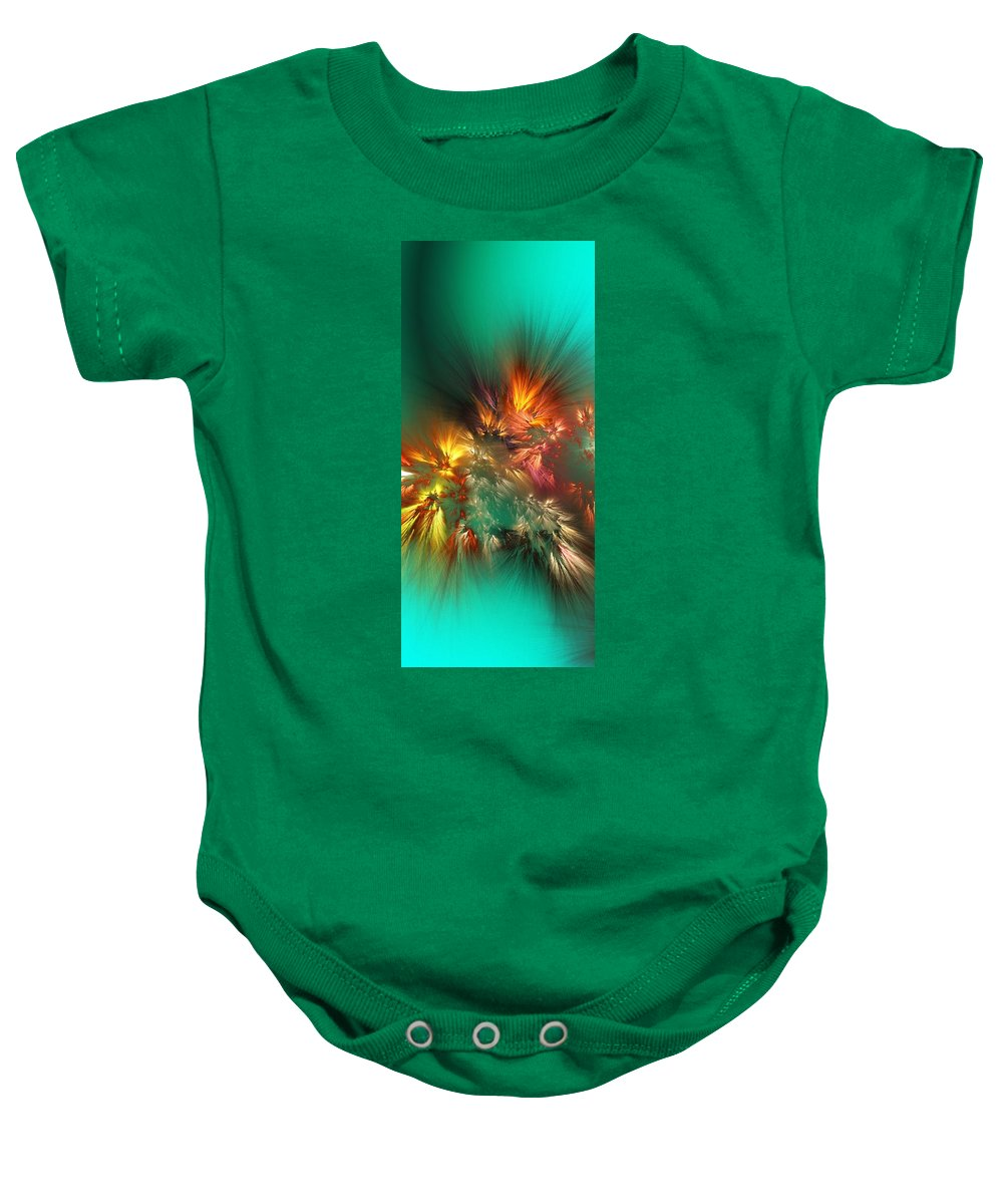Fine Art Baby Onesie featuring the digital art Abstract 090710a by David Lane