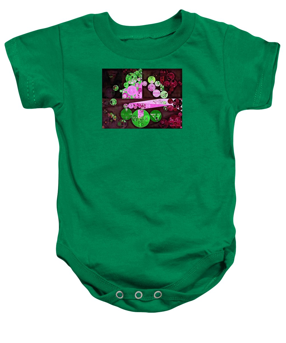 Abstraction Baby Onesie featuring the digital art Abstract Painting - Pale Plum by Vitaliy Gladkiy