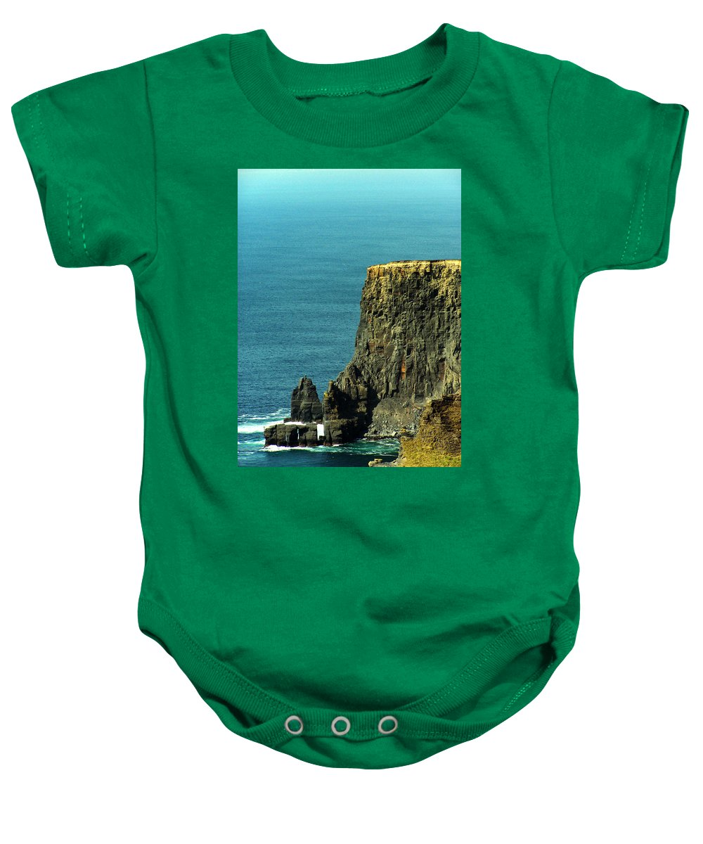 Irish Baby Onesie featuring the photograph Aill Na Searrach Cliffs Of Moher Ireland by Teresa Mucha