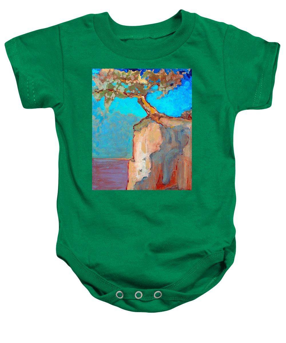 Tree Baby Onesie featuring the painting Albero by Kurt Hausmann