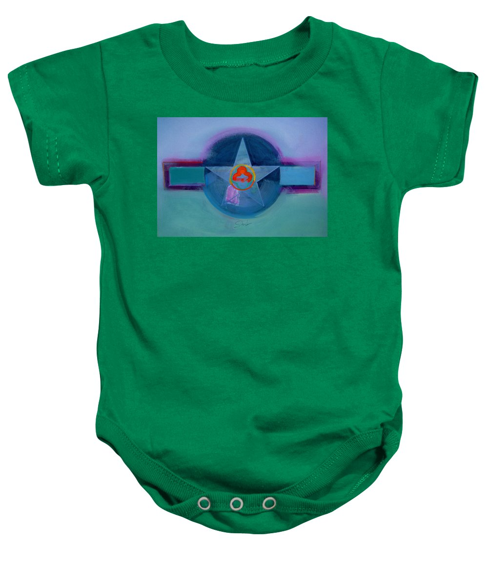 Star Baby Onesie featuring the painting American Spiritual by Charles Stuart