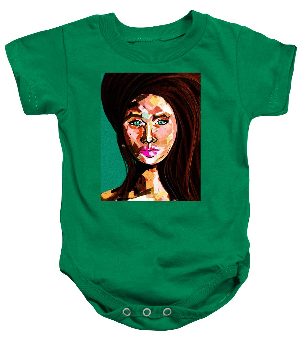 Lady Baby Onesie featuring the digital art Anna by Lisa Lown