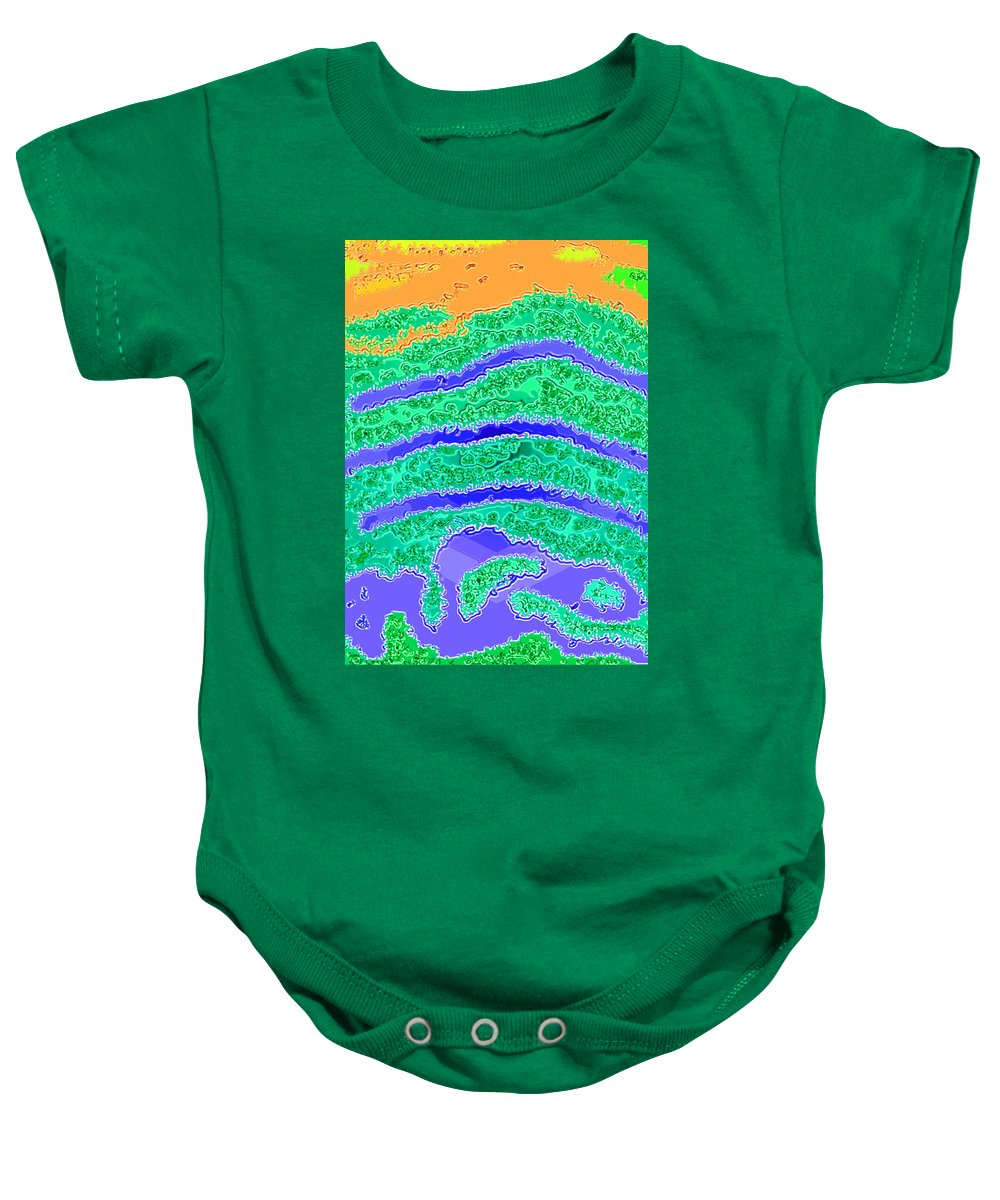 Digital Painting Baby Onesie featuring the painting Atc 003.2 by John Vincent Palozzi
