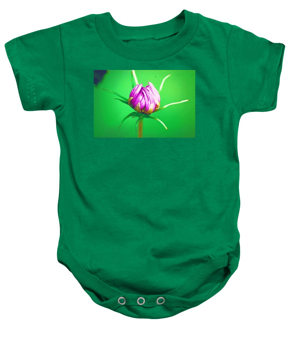 Flower Baby Onesie featuring the photograph Awakening by Donna Bentley