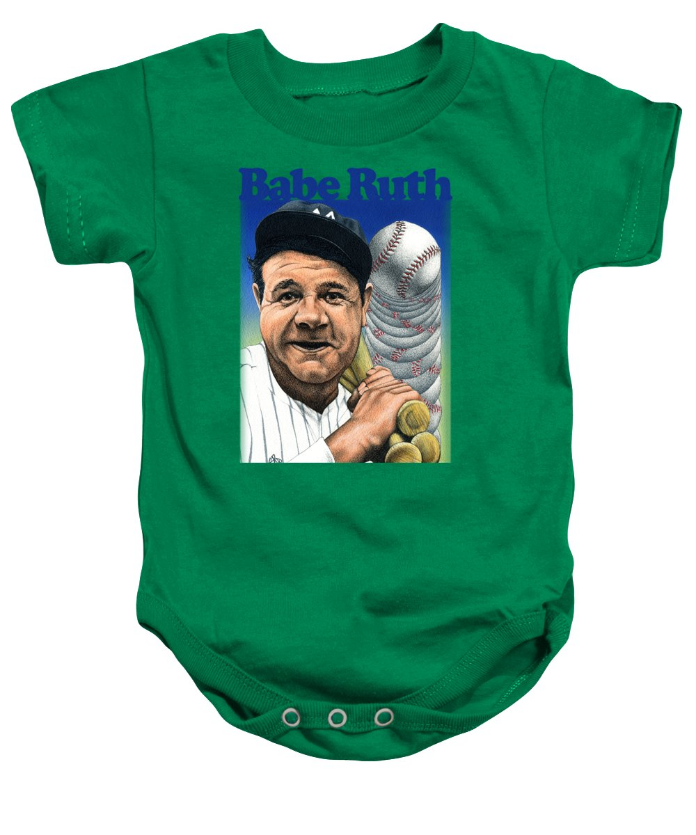 Babe Ruth Baby Onesies
