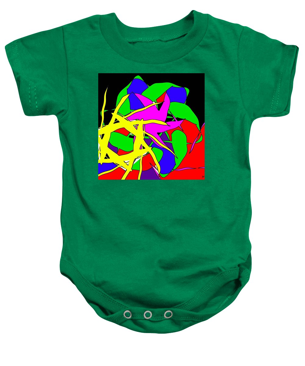 Abstract Baby Onesie featuring the digital art Bang by Yilmar Henry