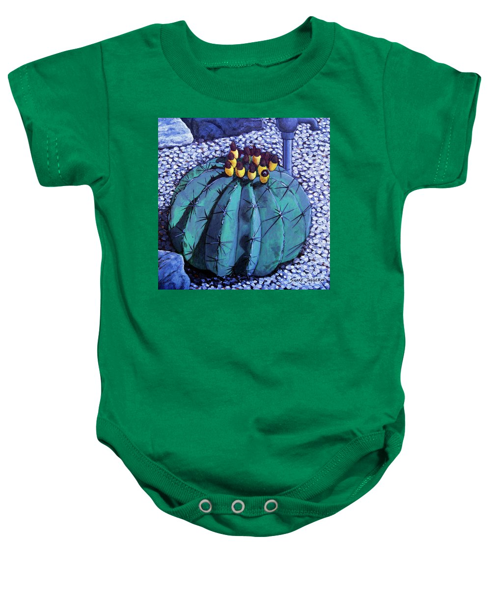 Nature Baby Onesie featuring the painting Barrel Buds by Snake Jagger