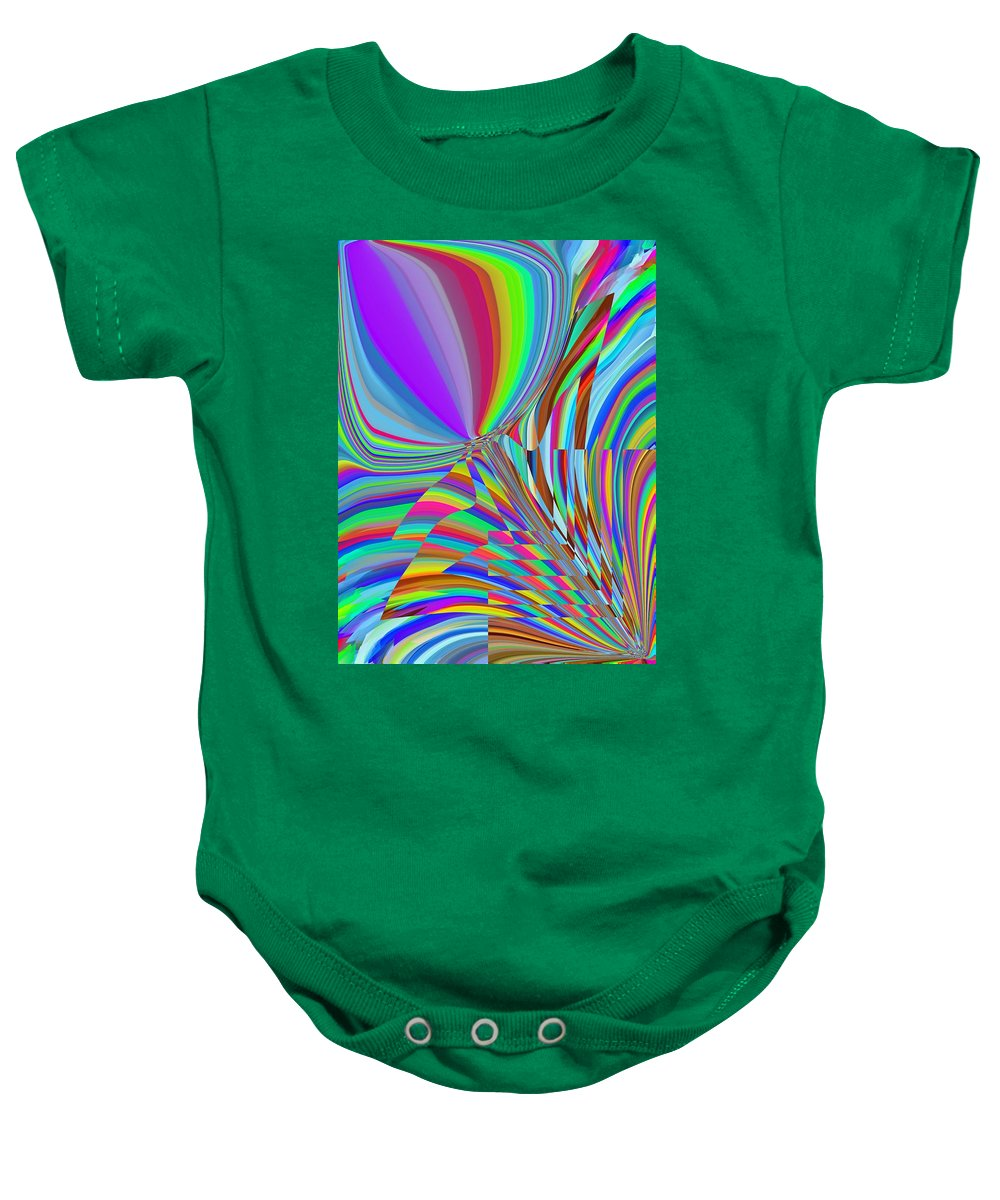 Baby Onesie featuring the digital art Bloomin Colorful by Tim Allen