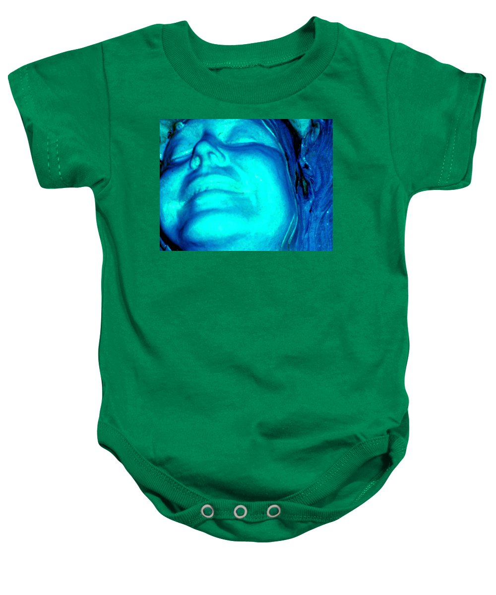 Blue Baby Onesie featuring the photograph Blue Goddess by Wayne Potrafka