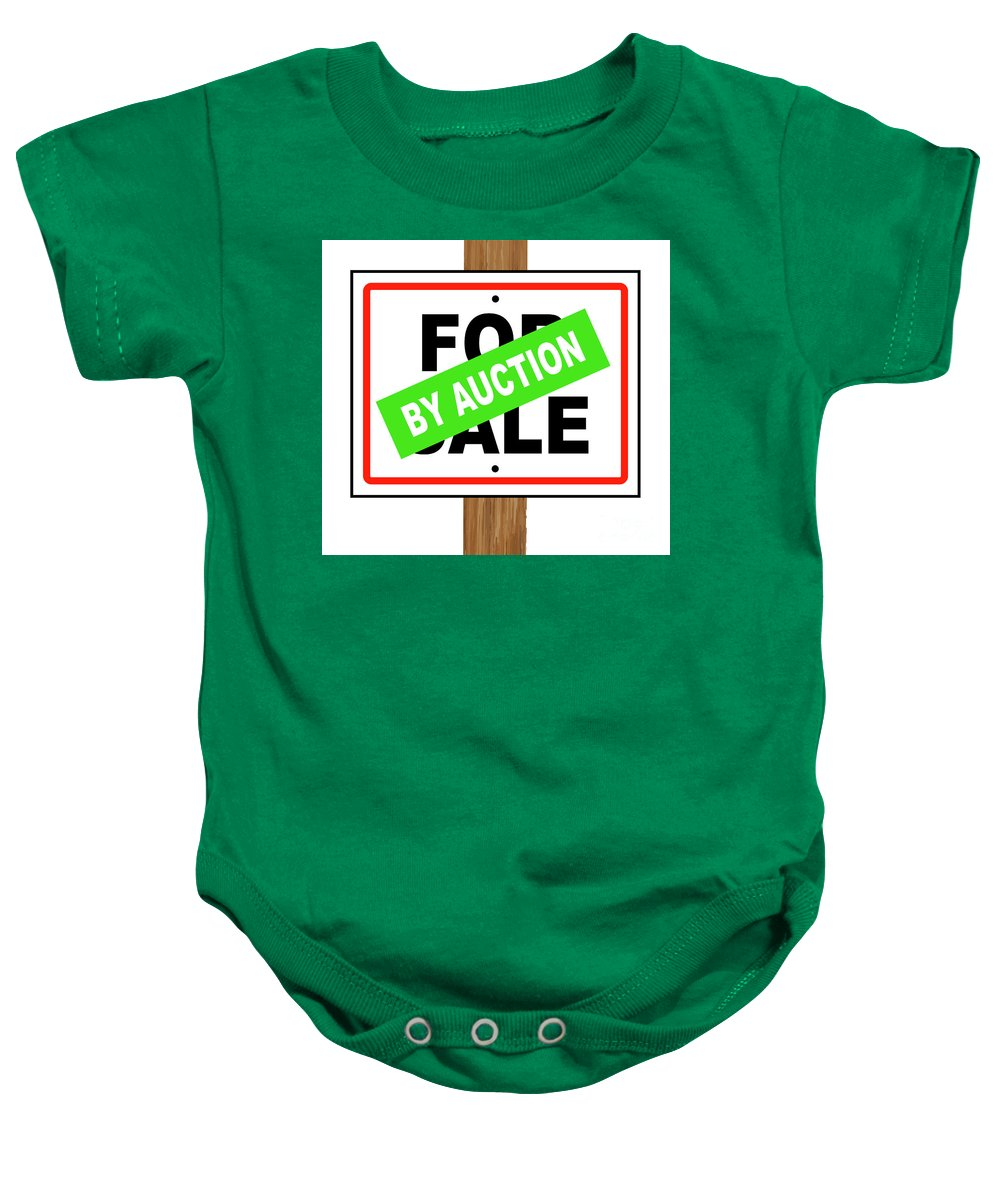 For Sale Baby Onesie featuring the digital art By Auction by Bigalbaloo Stock
