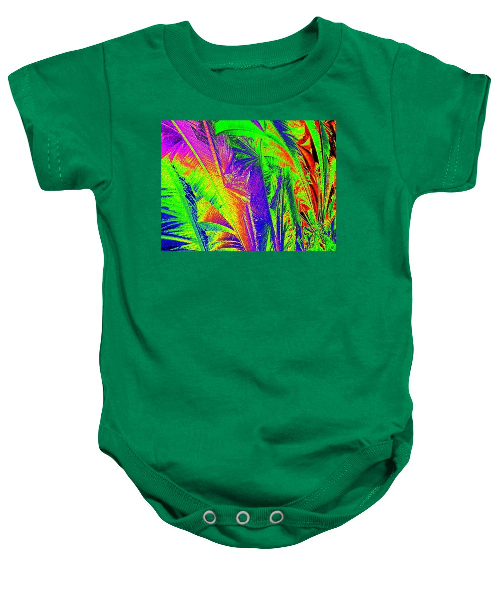 Abstract Baby Onesie featuring the digital art Call Of The Jungle by Will Borden