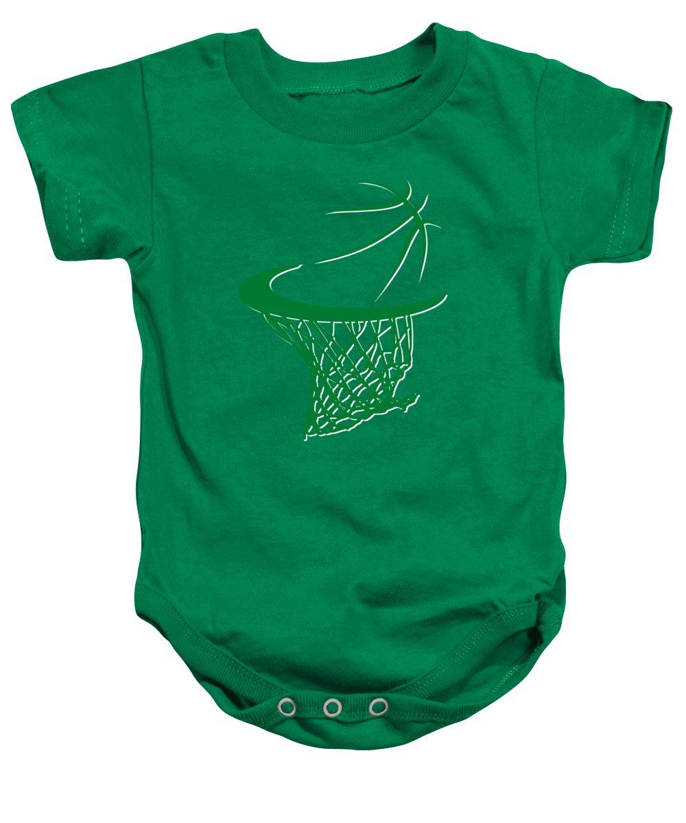 Celtics Baby Onesie featuring the photograph Celtics Basketball Hoop by Joe Hamilton