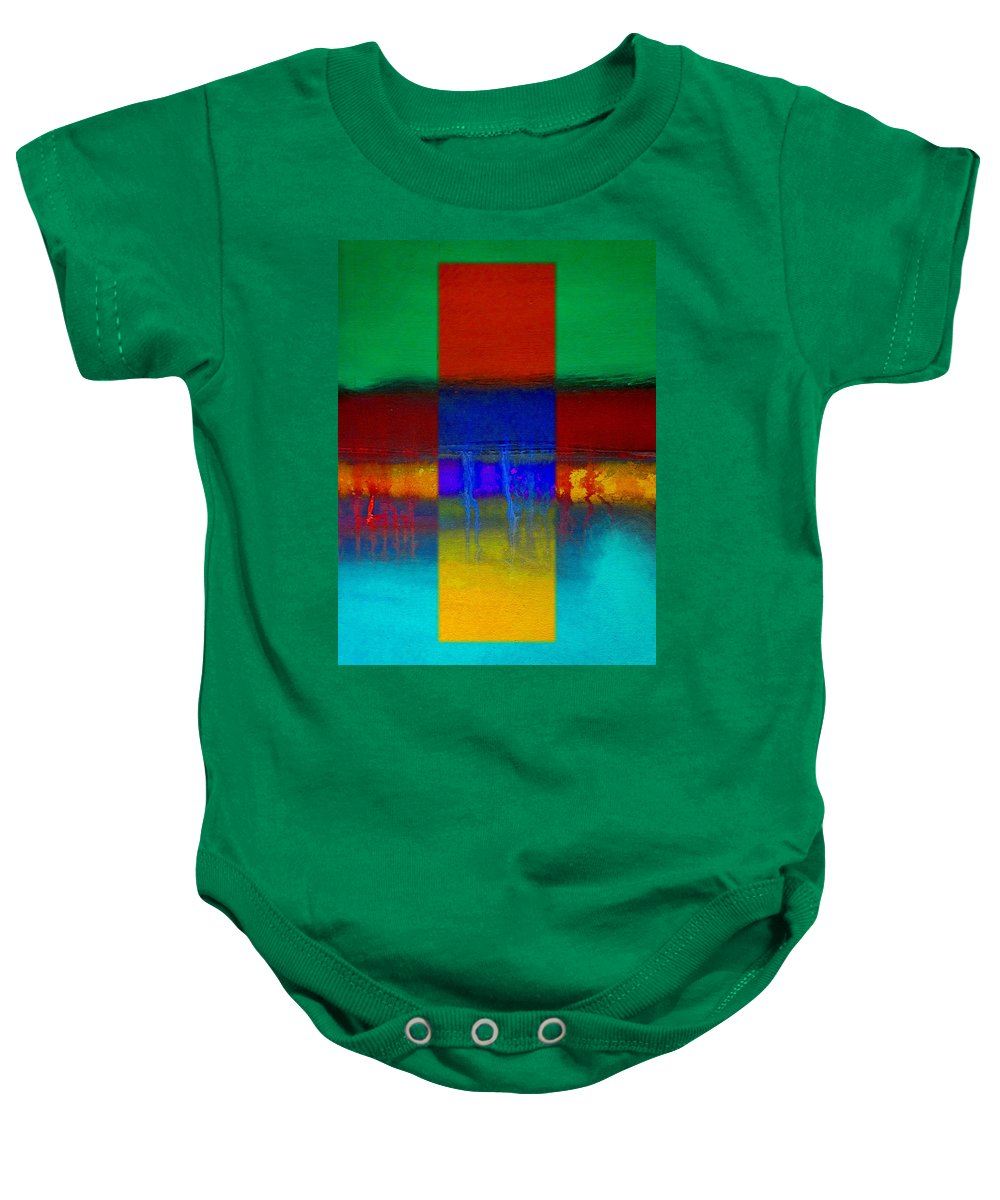 Landscape Baby Onesie featuring the painting Color State by Charles Stuart