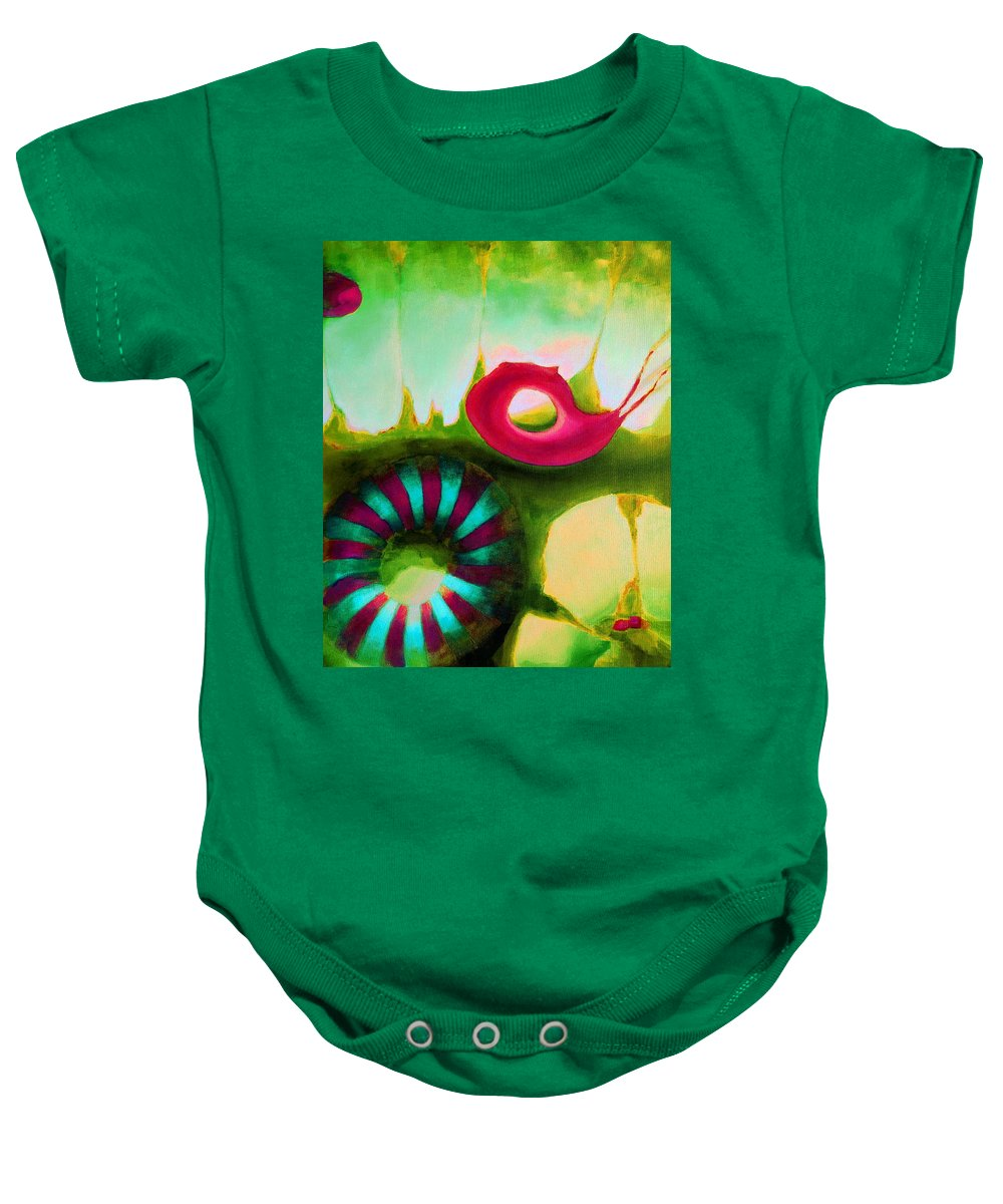 Armenian Baby Onesie featuring the painting Coral Cavern 1.1 by Giro Tavitian