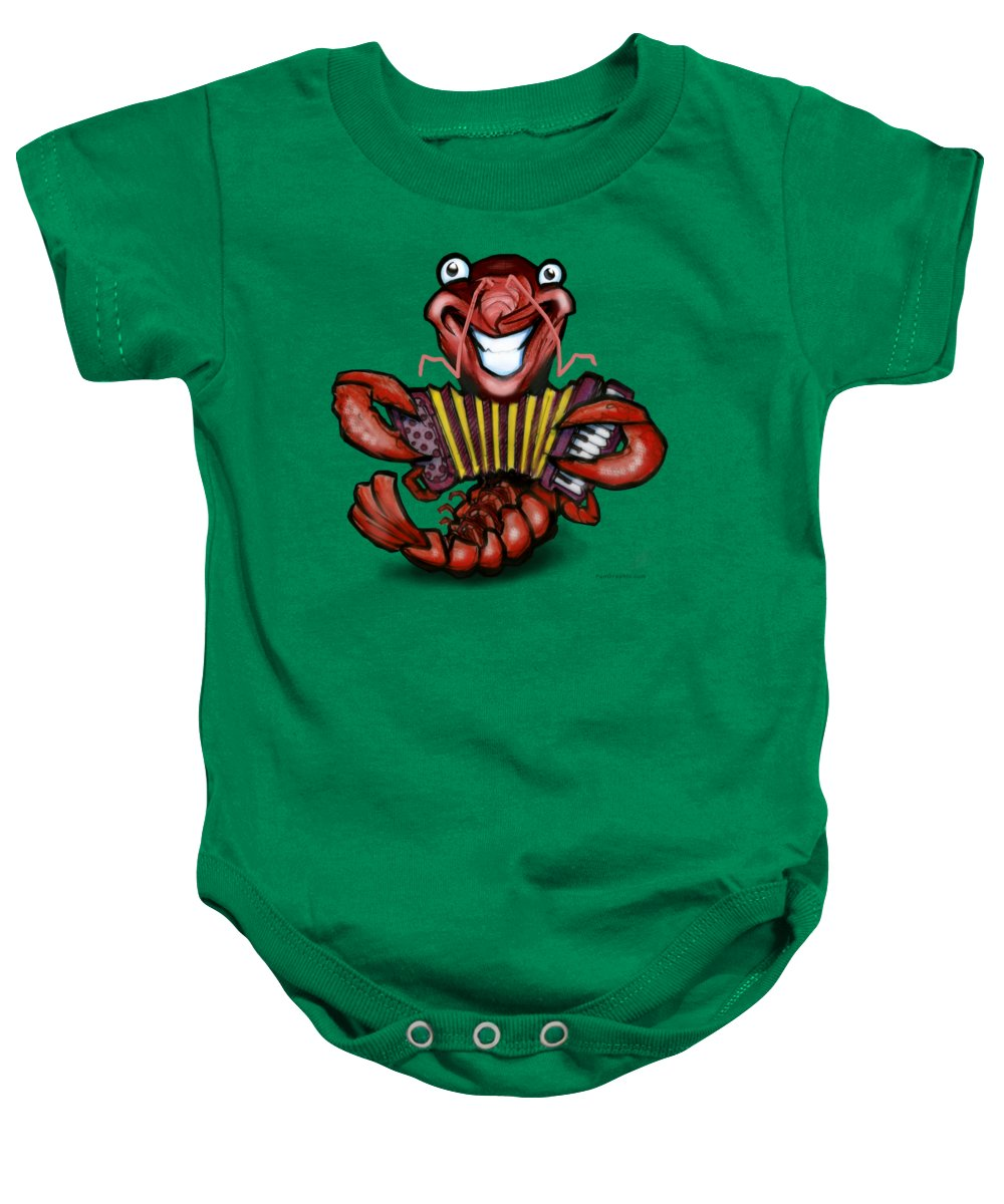 Crawfish Baby Onesie featuring the digital art Crawfish by Kevin Middleton