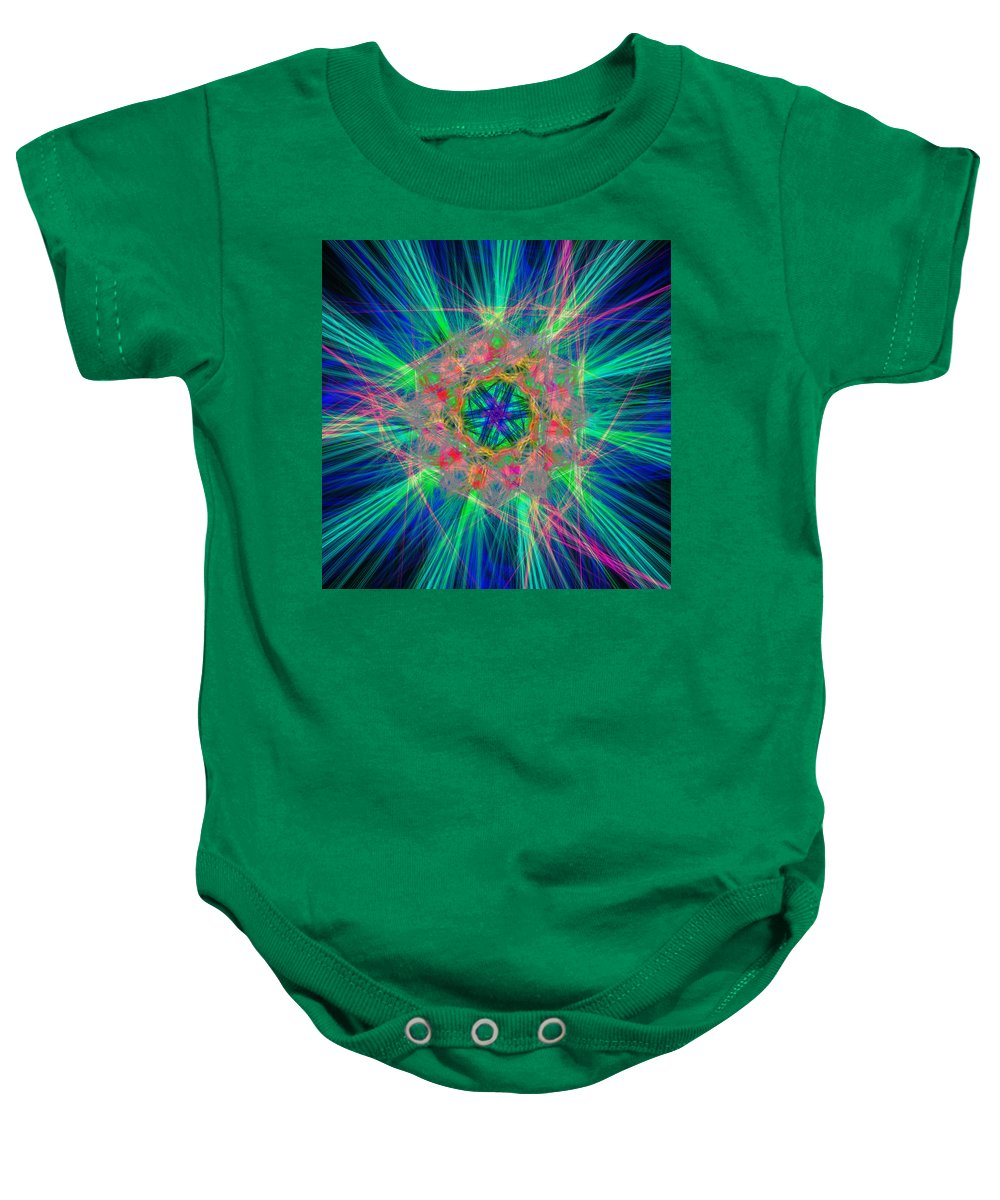 Abstract Baby Onesie featuring the digital art Disputates by Andrew Kotlinski