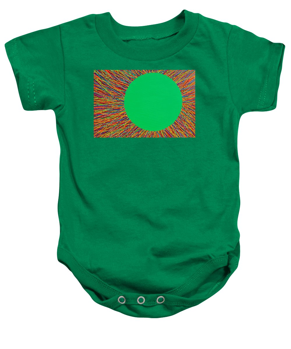Contemporary Baby Onesie featuring the painting Empty Cup 1 by Kyung Hee Hogg