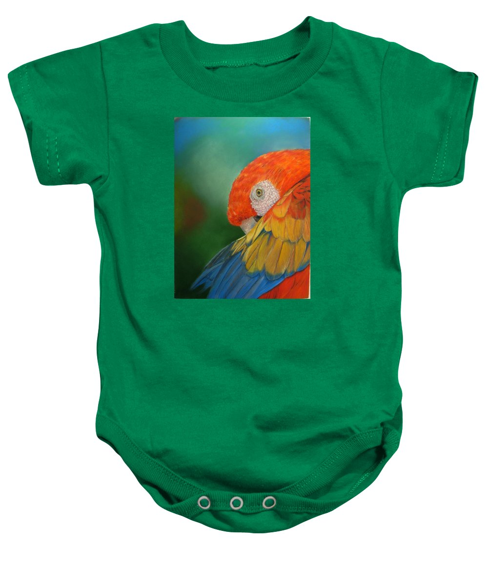 Bird Baby Onesie featuring the painting Escondida by Ceci Watson