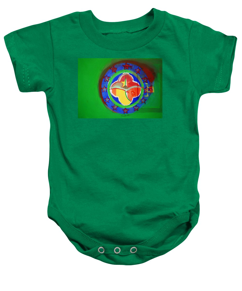 Symbol Baby Onesie featuring the painting Euromarine by Charles Stuart