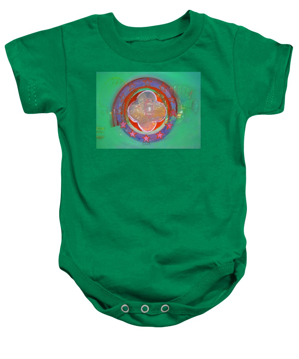 Symbol Baby Onesie featuring the painting European Merry-go-round by Charles Stuart
