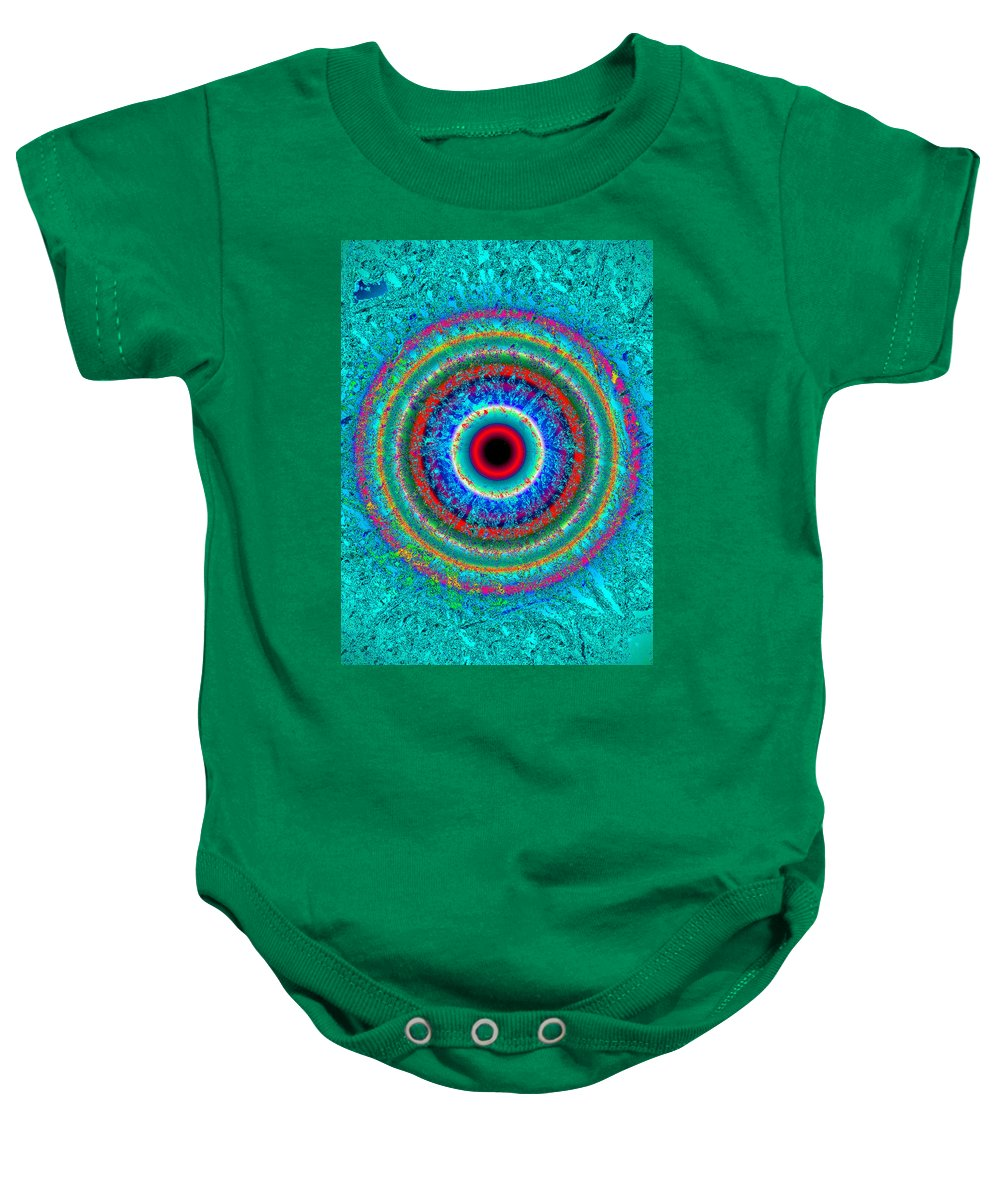 Eye Baby Onesie featuring the painting EYE by David Lee Thompson