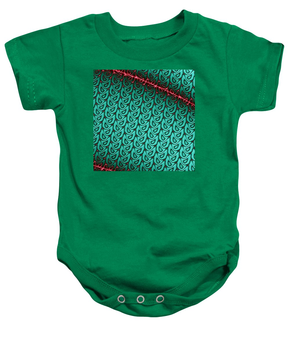 Fractals Baby Onesie featuring the digital art Flash Of Wit by Dragica Micki Fortuna