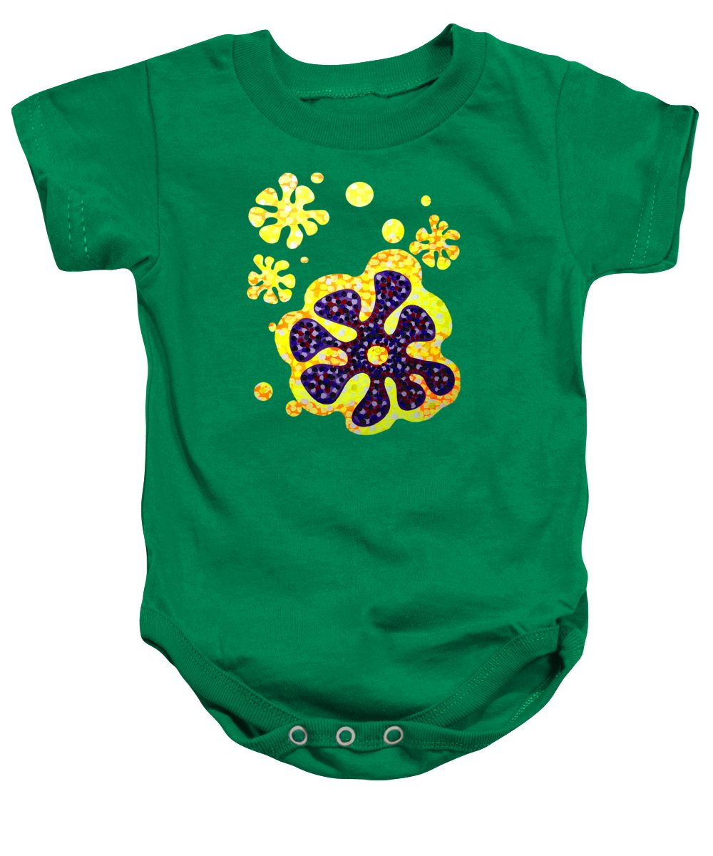 Acrylic Baby Onesie featuring the painting Flower For Rafa by Alan Hogan