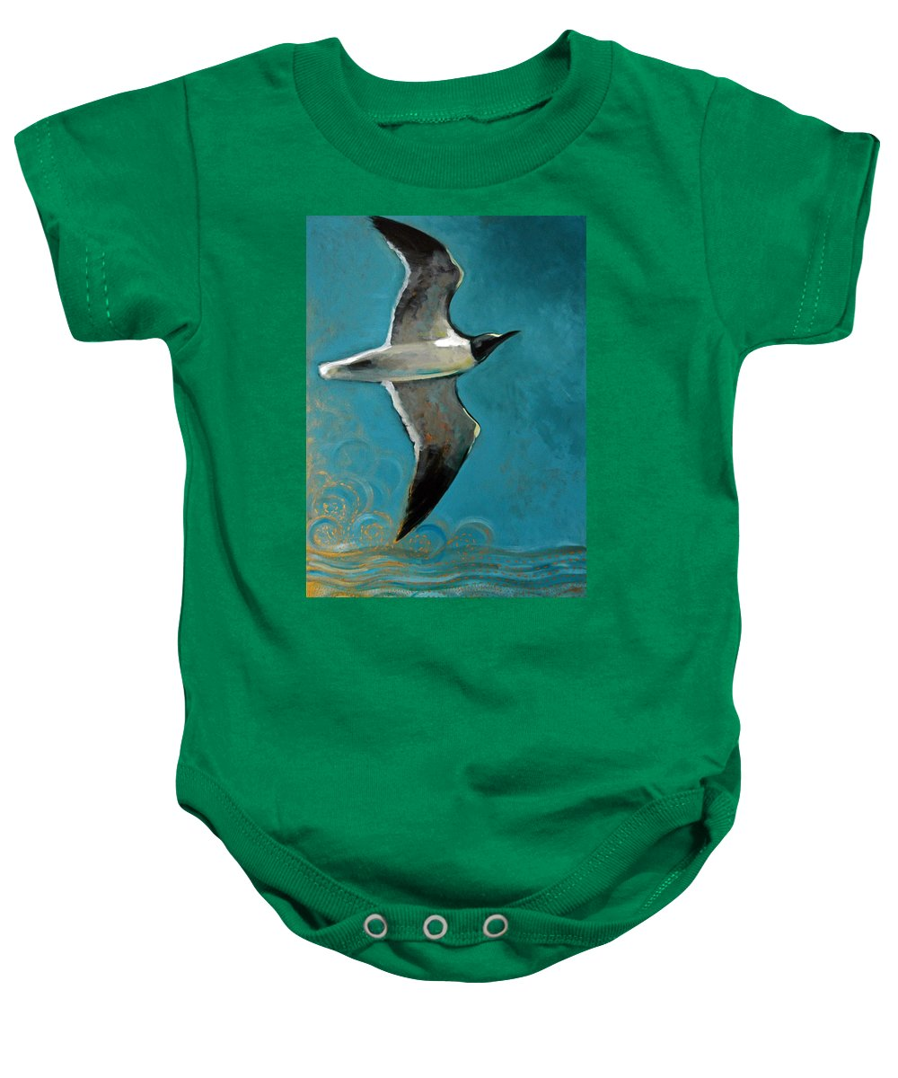 Acrylic Baby Onesie featuring the painting Flying Free by Suzanne McKee