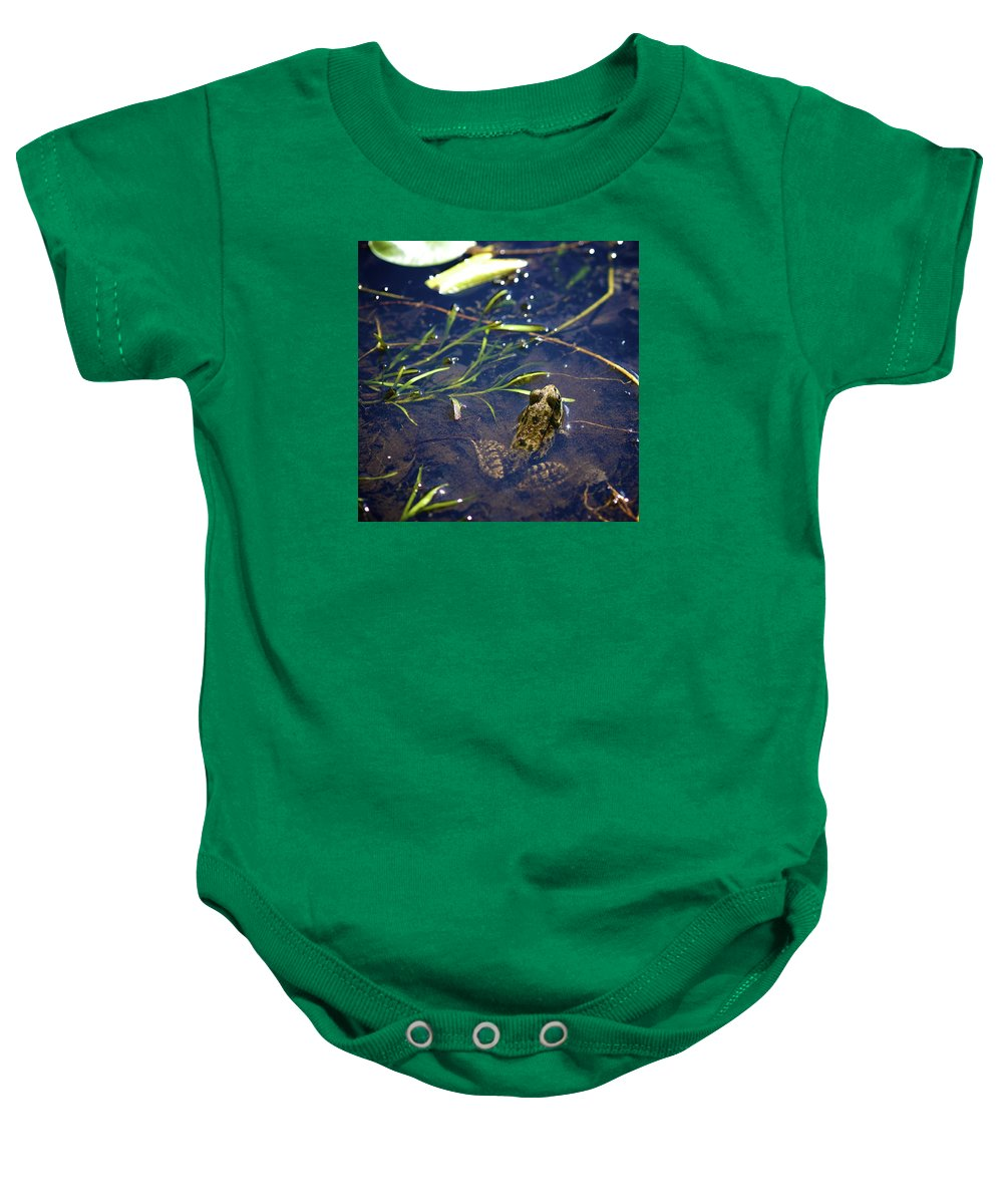 Frog Baby Onesie featuring the photograph Frog 5 by Robert Skuja