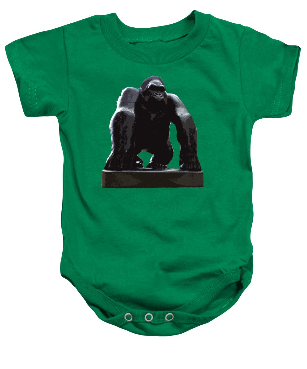 Digital Art Baby Onesie featuring the digital art Gorilla Art by Francesca Mackenney