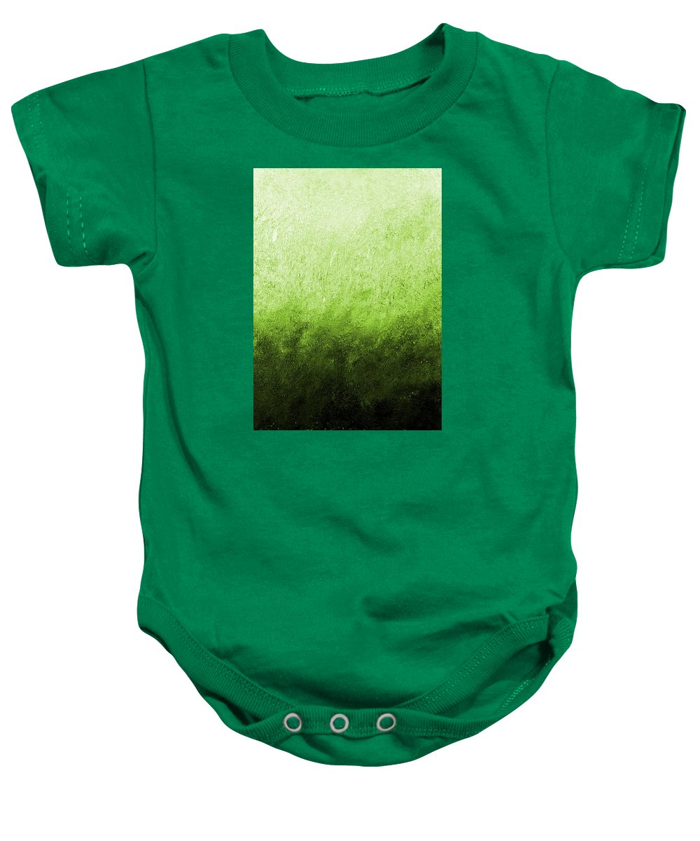 Australia Baby Onesie featuring the painting Green Fire by Giro Tavitian