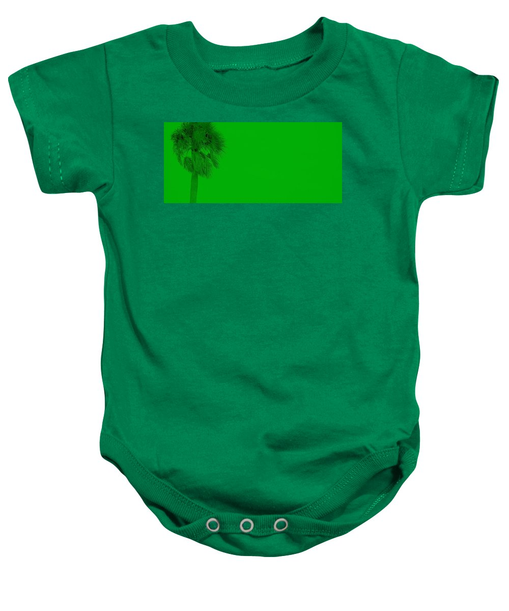 Landscape Baby Onesie featuring the photograph Green Palm by Ed Smith