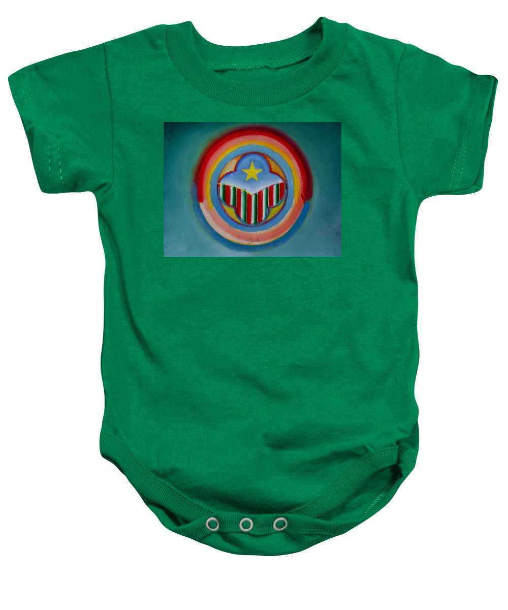 Button Baby Onesie featuring the painting Italian American by Charles Stuart