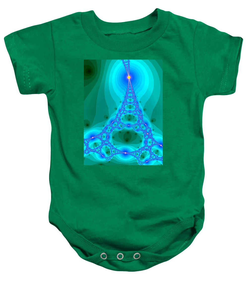 Art Baby Onesie featuring the digital art Ladder To Haven by Mark Sellers