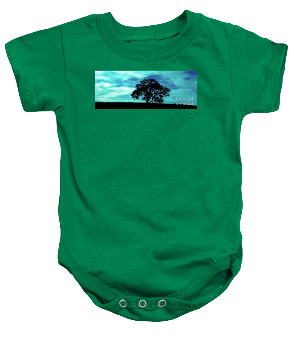 Oak Baby Onesie featuring the photograph Lone Oak by Jim And Emily Bush