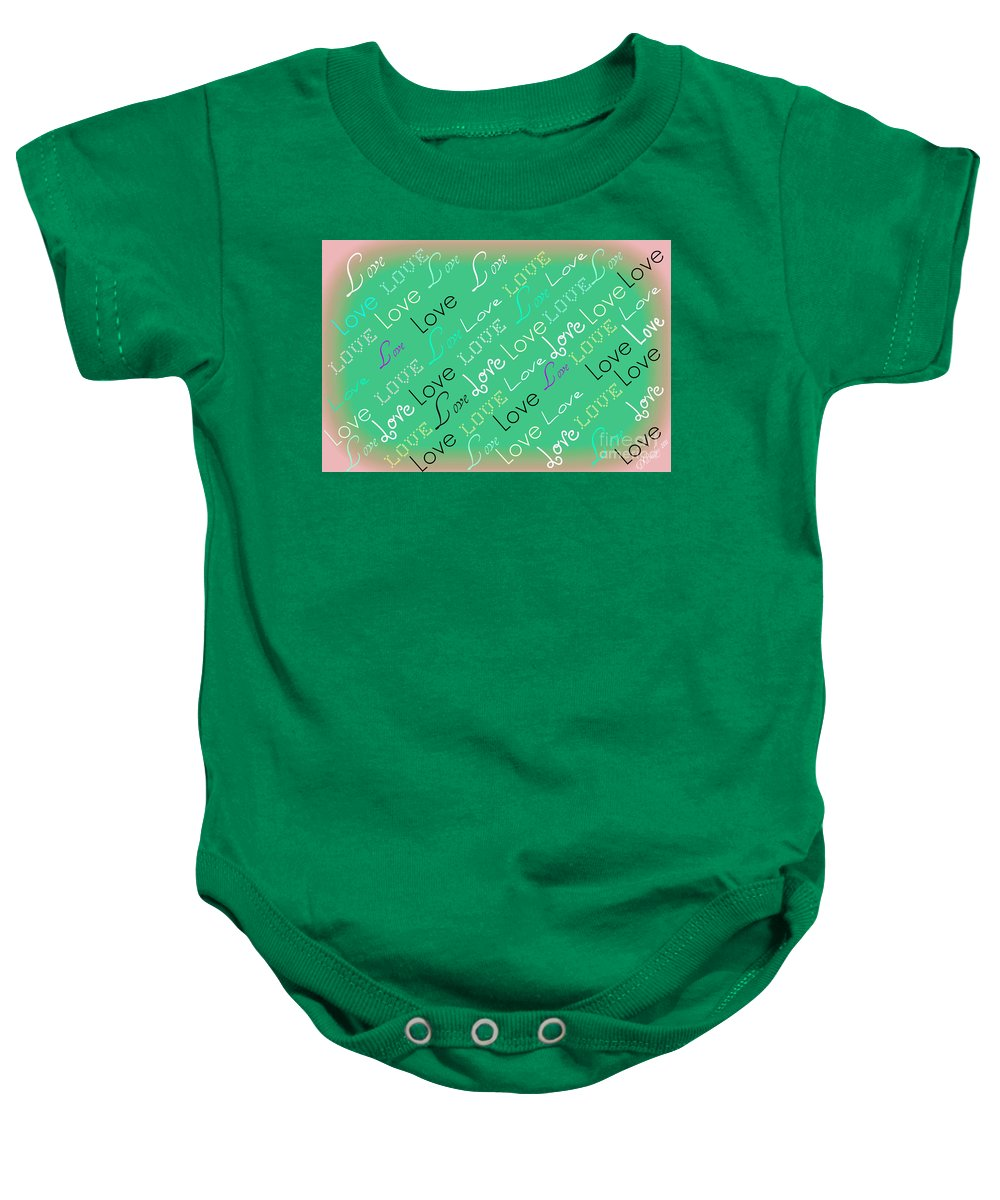 Love Baby Onesie featuring the digital art Love Letters by Donna Bentley