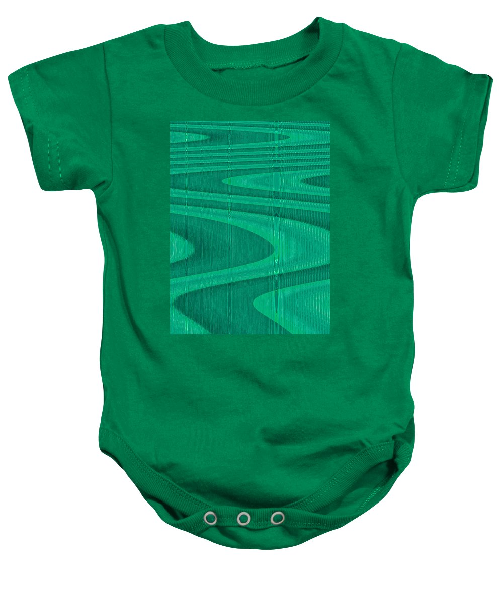 Moveonart! Digital Gallery Lower Nob Hill San Francisco California Jacob Kanduch Baby Onesie featuring the digital art Moveonart Green Pathways 1 by Jacob Kanduch