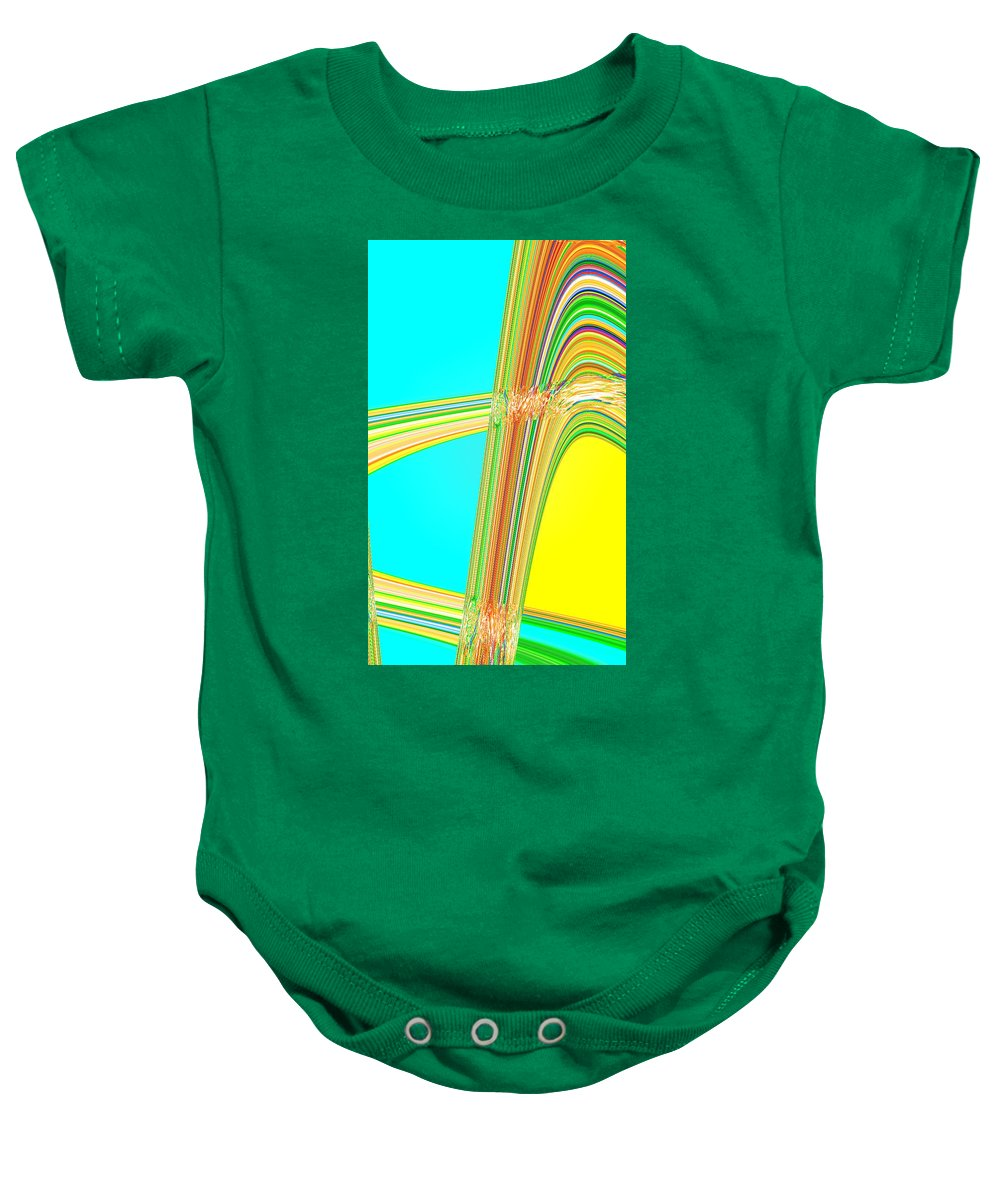 Moveonart! Digital Gallery Baby Onesie featuring the digital art Moveonart Total Increase In Light And Waves by Jacob Kanduch