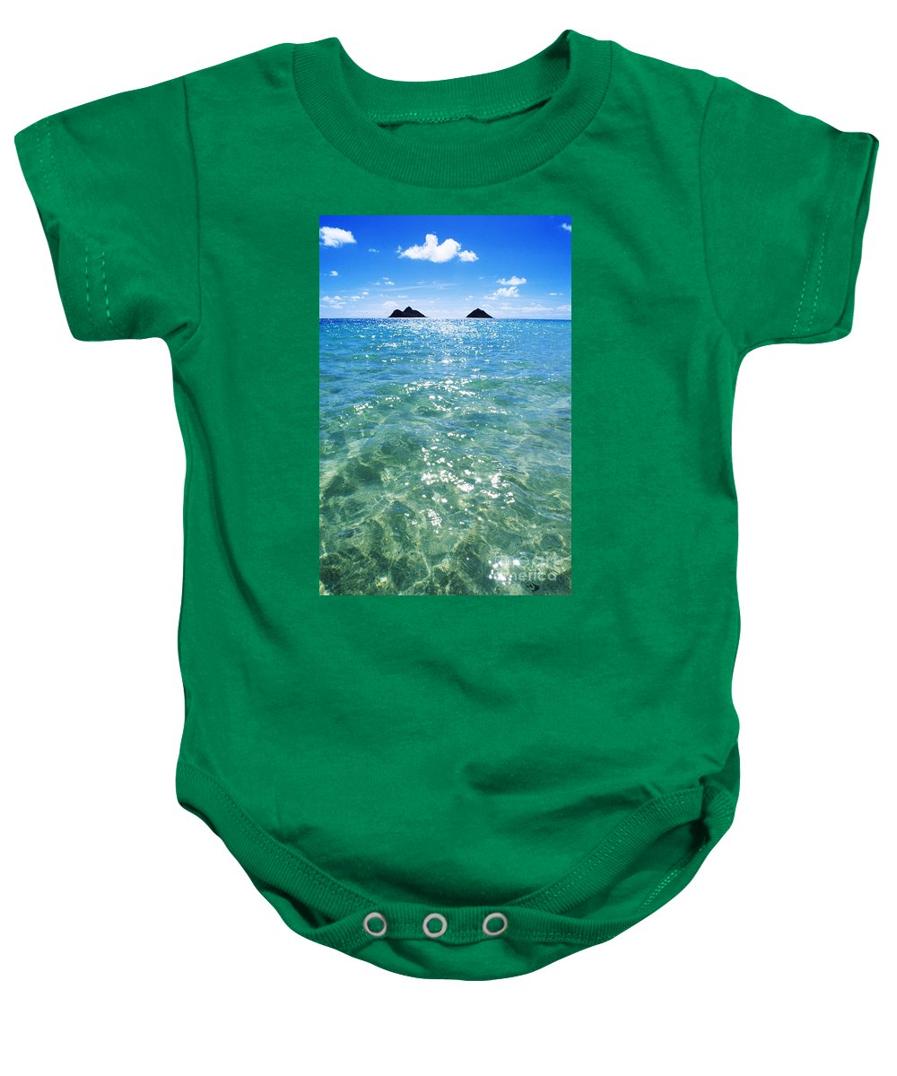 05-pfs0112 Baby Onesie featuring the photograph Oahu, Lanikai Beach by Carl Shaneff - Printscapes
