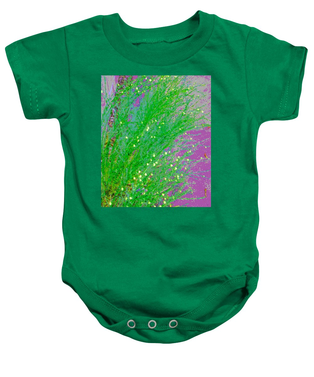 Abstract Baby Onesie featuring the photograph Plant Design by Lenore Senior